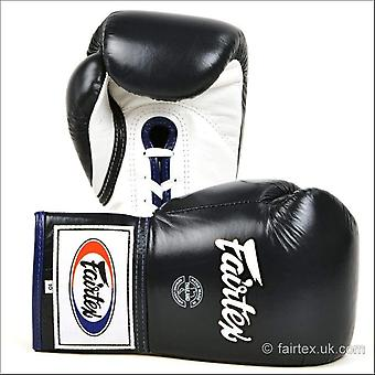 Fairtex lace-up boxing gloves - blue
