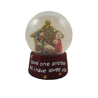 Heaven Sends Nativity Snowglobe