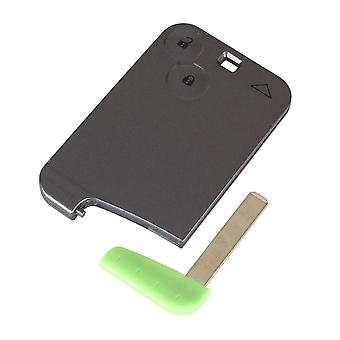 2 button smart card case car shell with key Renault