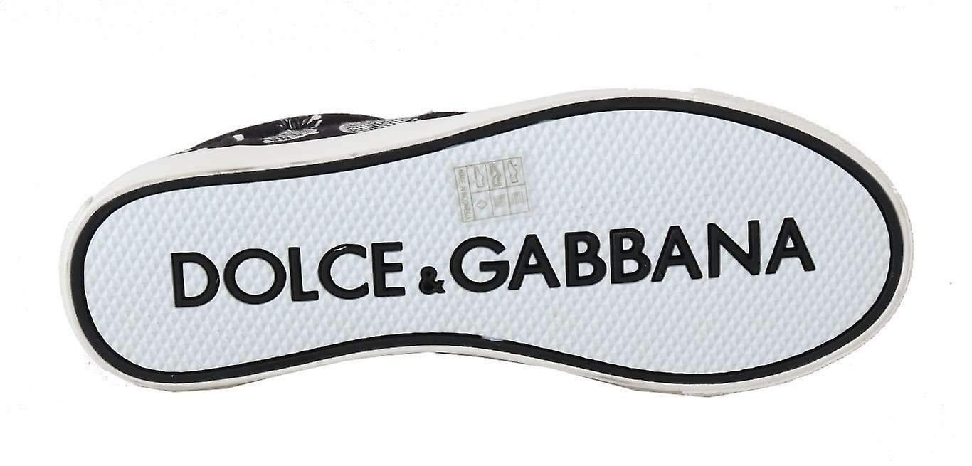 Dolce & Gabbana noir blanc ananas Canvas Sneakers--MV16786416