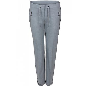 Bianca Grey Fitted Trousers