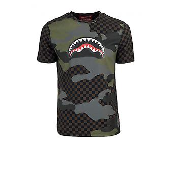 SPRAYGROUND CAMO SHARK BROWN T-SHIRT