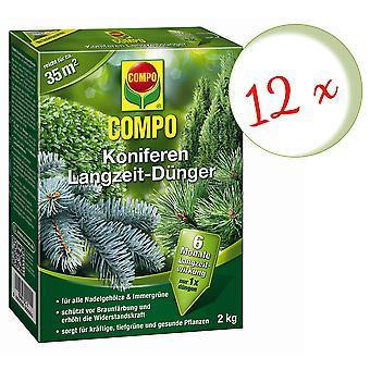 Sparset: 12 x COMPO conifers long-term fertilizer, 2 kg