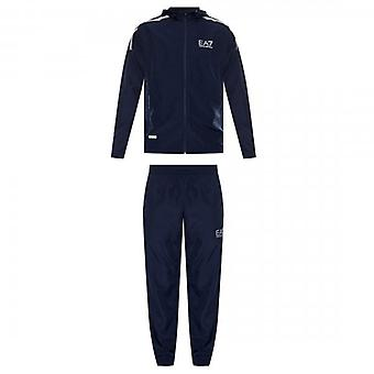 EA7 Emporio Armani Navy Zip Up Polyester Tracksuit 3HPV08 PNP6Z
