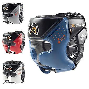 Boxeo rival RHG10 Intelli-Shock d30 Headgear - Medio - Negro/Azul