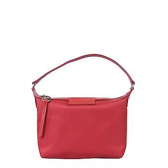 Longchamp 10039598545 Women's Red Leather Shoulder Bag