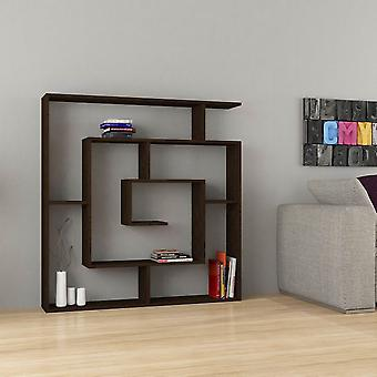 Labirent Color Wenge Bibliothek in Melaminic Chip 125x22x125 cm
