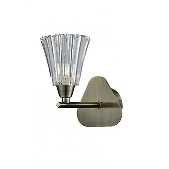 Bronze Wall Lamp Clemmy 1 Bulb