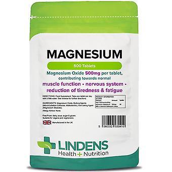 Lindens Magnésium (MgO 500mg) Comprimés 500 (410)