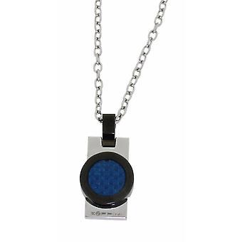 ZOPPINI modrý uhlíkový náhrdelník