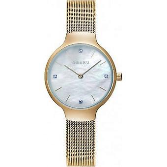 OBAKU - Wristwatch - Women - VIKKE-GOLD - V241LXGWMG