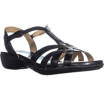Naturalizer Womens Nella Leather Open Toe Formal Ankle Strap Sandals