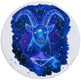 Zodiac Capricorn Beach Towel