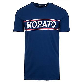 Antony Morato esporte tripulação pescoço azul caixa Print T-shirt