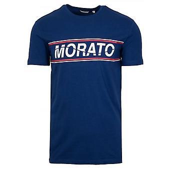 Antony Morato Sport Crew Neck Blue Chest Print T-Shirt