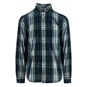 Lacoste Long-Sleeved Navy Check Shirt