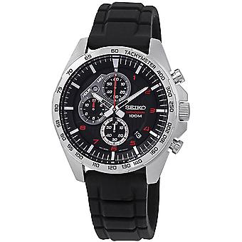 Seiko Quartz Watch SSB325P1 - Silicon Gents Quartz Chronograph