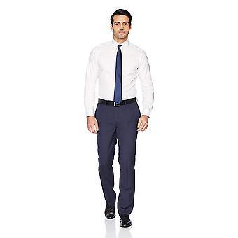 """BOTONED ABAJO Hombres's Traje a medida Botón-Collar Sólido No-Hierro Vestido Camisa (Sin Bolsillo), Blanco, 15.5"""" Cuello 33"""" Manga"""