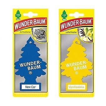 Doftgran Wunder-Baum (New Car + Vanilj) 2-Pack