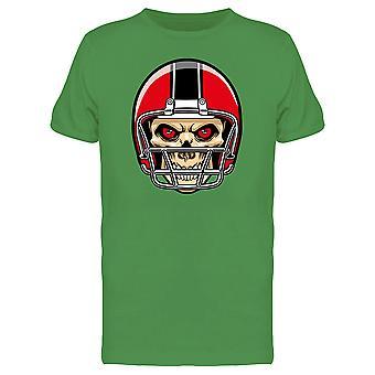 Football Player Skull Design Tee Men's -Image by Shutterstock