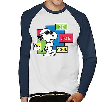 Peanuts Be Joe Cool Snoopy Men's Baseball Pitkähihainen T-paita