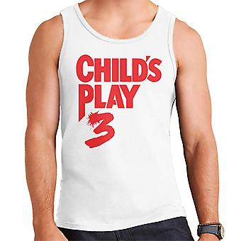 Chucky Childs Play 3 Classic Red Logo Men's Vest