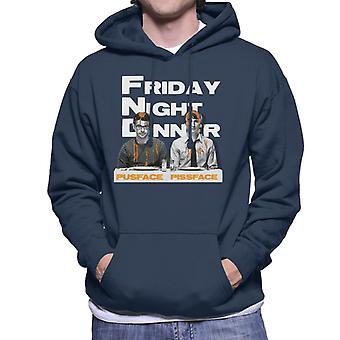 Friday Night Dinner Pusface And Pissface Men's Hooded Sweatshirt