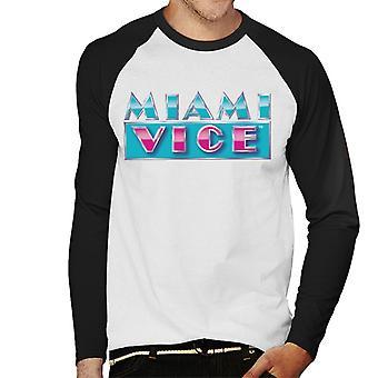 Miami Vice reflecterende logo mannen ' s honkbal lange mouwen T-shirt