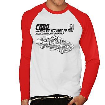 Haynes proprietários Workshop Manual 0904 Ford Sierra V6 Baseball 4x4 preto masculino t-shirt de mangas compridas