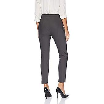 Marque - Lark & Ro Women's Stretch Side Zip Pant, Carbone, 14