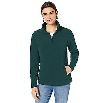 Essentials Women's Quarter-Zip Polar Fleece Pullover Jacket, Deep Pine...