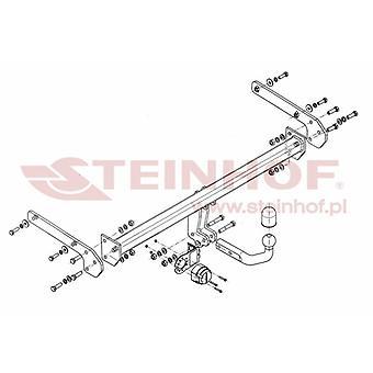 Steinhof Towbar (fixiert 2 Schrauben) für Suzuki SX4 S-Cross 2013-2018
