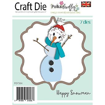 Polkadoodles onnellinen lumiukko kuolee