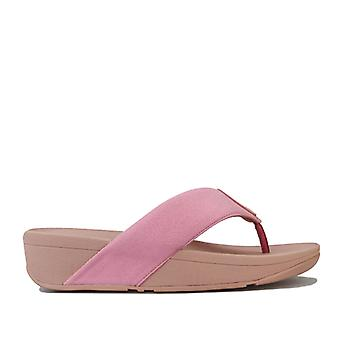 Women's Fit Flop Demelza Shimmer Toe Thong Sandals in Pink