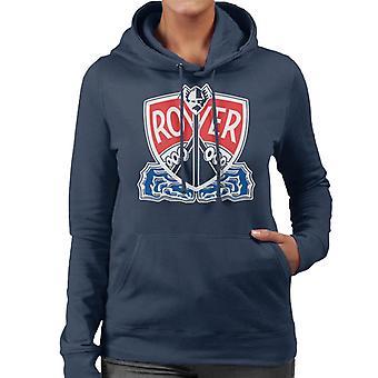 Rover Logo With Border British Motor Heritage Women's Hooded Sweatshirt