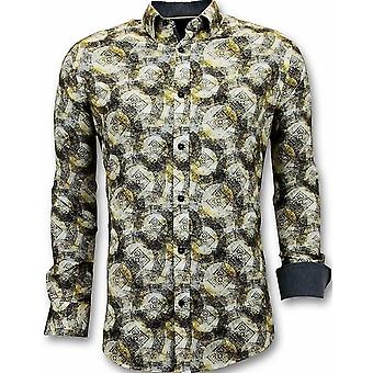 Shirts With Digital Print - Yellow