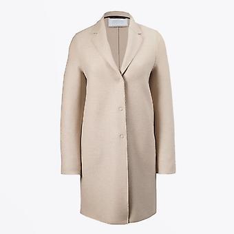 Harris Wharf - Manteau de coco en laine pressée - Amande
