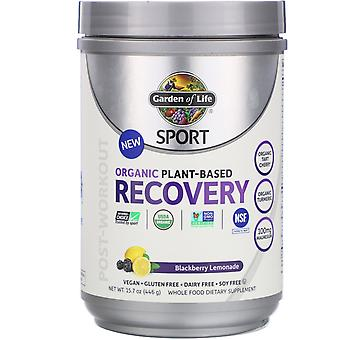 Garden of Life, Sport, Organic Plant-Based Recovery, Blackberry Lemonade, 15.7 o