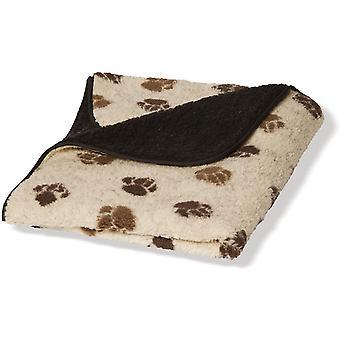 Dänisches Design Fleece Pfote Beige/braun Fleece Decke - klein (63x76cm)