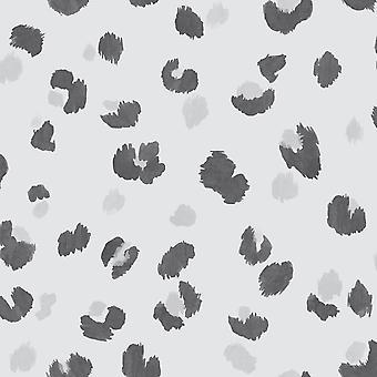 Amur Leopard Stampa Sfondo Grigio Holden 91070