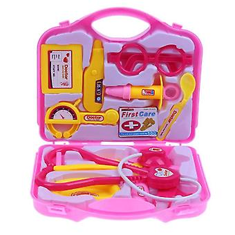 15pcs/set Children Pretend Play Set Portable Nurse Suitcase Medical Kit Kids- Educational Role Play Doctor Toys