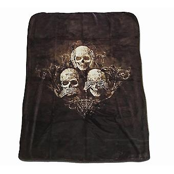 Alchemy - no evil - luxury  double fleece blanket