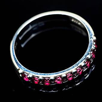 Pink Tourmaline Ring Size 11 (925 Sterling Silver)  - Handmade Boho Vintage Jewelry RING24964