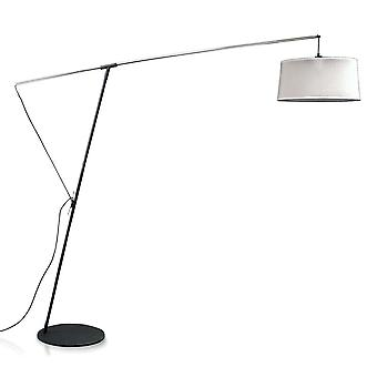 M4968 Floor Arch Lamp E27 with Black Shade, Black, Polished Chrome