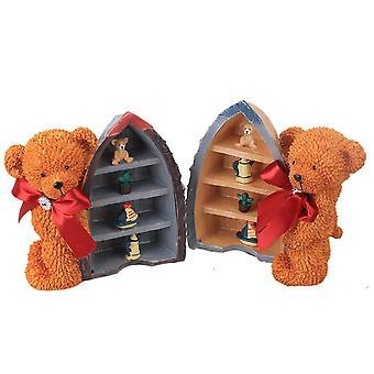 Niedźwiedź Żywica Ornament z żaglówką dekoracji prezent