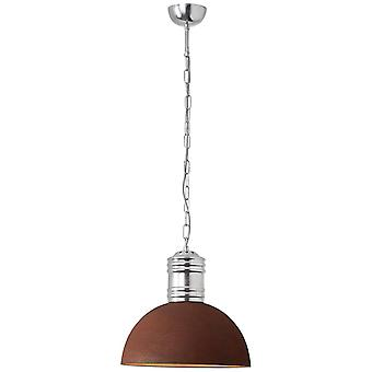 BRILLIANT Lamp Frieda Vedhæng Lampe 41cm Rust-farvet   1x A60, E27, 60W, egnet til normale lamper (ikke inkluderet)  