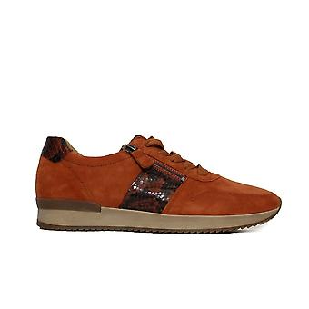 Gabor Lulea 420-11 Orange Suede/Leather Womens Lace/Zip Up Trainers