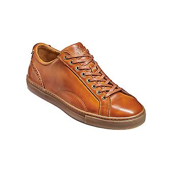 Barker Axel - Rosewood Calf Hand Painted - 39 | Mens Handmade Leather Sneakers | Barker Shoes
