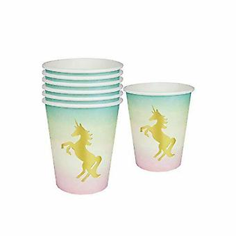 We ♥ Unicorns Paper Cups Unicorn Party Pack of 12