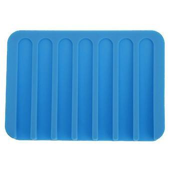 Mýdlové nádobí Domácí zlepšení 4 barvy Koupelna Silikonová flexibilní deska zásobník vypouštěcí vana nástroje držák mýdlo mýdlo